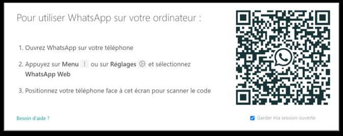 Sécurité renforcée par l'authentification par QR code sur WhatsApp Web